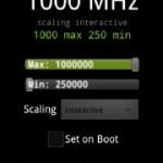 Set CPU Overclock HTC Thunderbolt